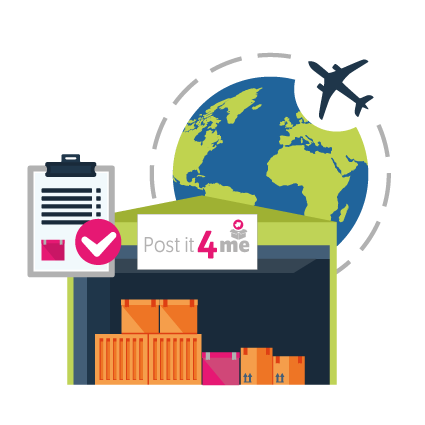 Postit4me - Parcel Repacking and Forwarding Service